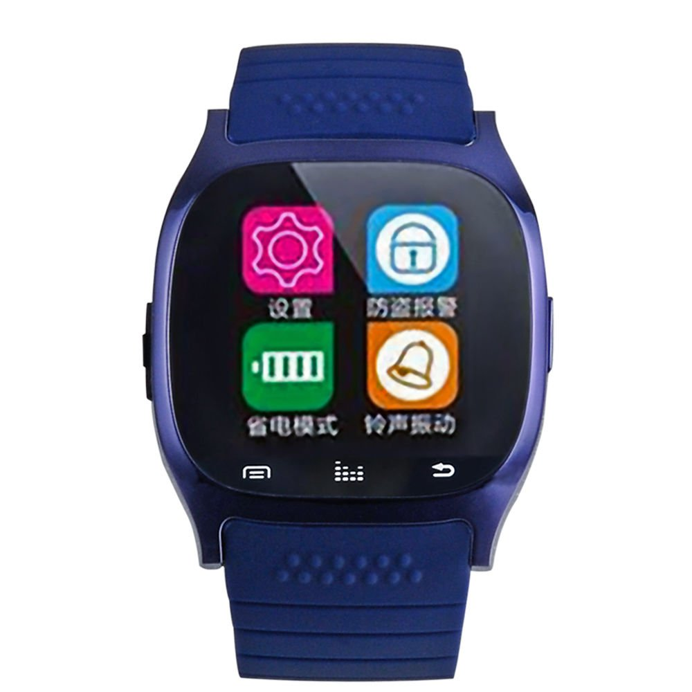 etooth Smart Watch Phone Mate f Android Samsung HTC LG Sony M26 Blue
