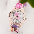rendy Women's Flower Printed Silicone Watch Dress Watches