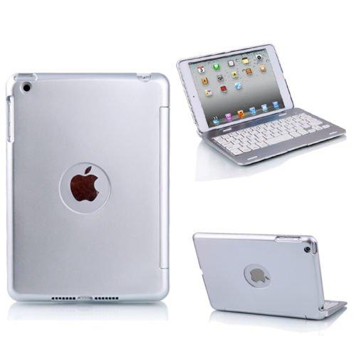 New Slim Aluminium Back Bluetooth Keyboard Cover Case For Apple iPad Mini