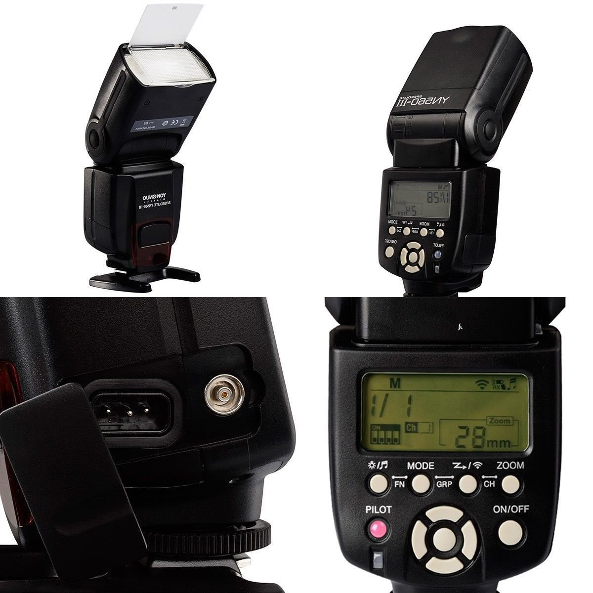 Yongnuo YN560-III Wireless Speedlite Flash for Canon Nikon Camera Photography