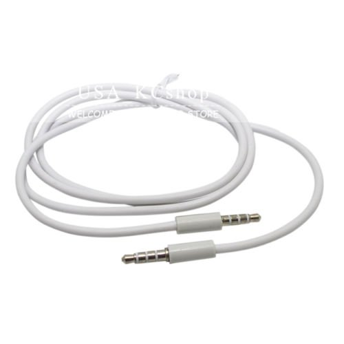 White 3.5mm Car Audio Stereo Aux Extension Cable For Apple iPhone 5 5TH G 4