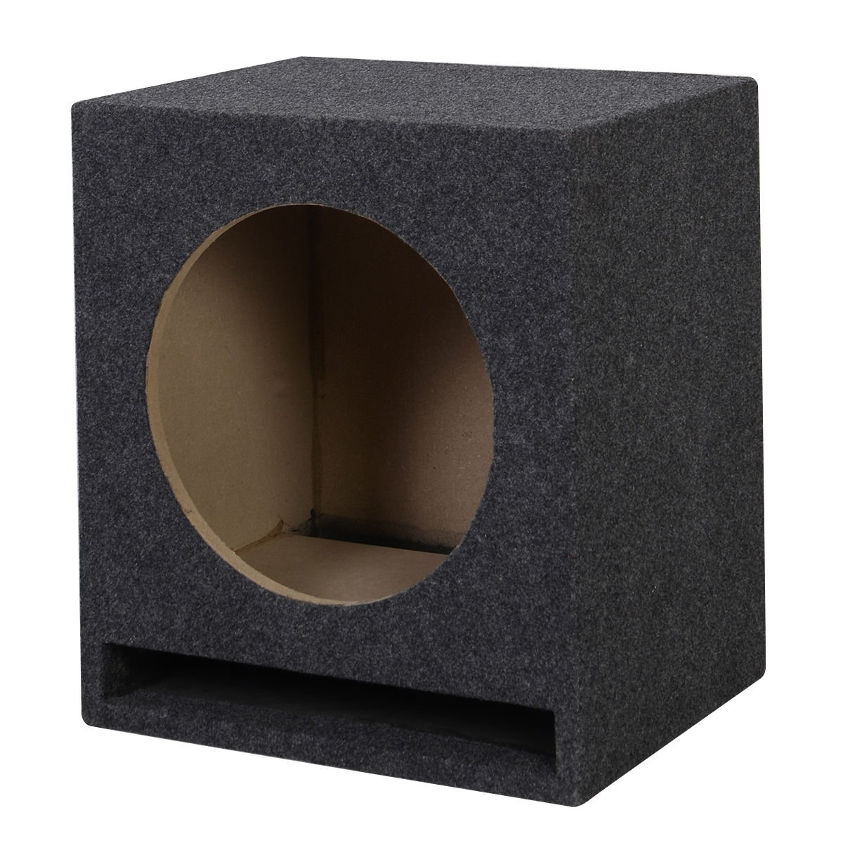 12 inch Single Car Audio Speaker Ported Vented MDF Subwoofer Enclosure Box 2.0