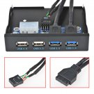 3.5 inch Front Panel 4 Ports USB 3.0 USB 2.0 Hub Expansion Floppy Bay Bracelet