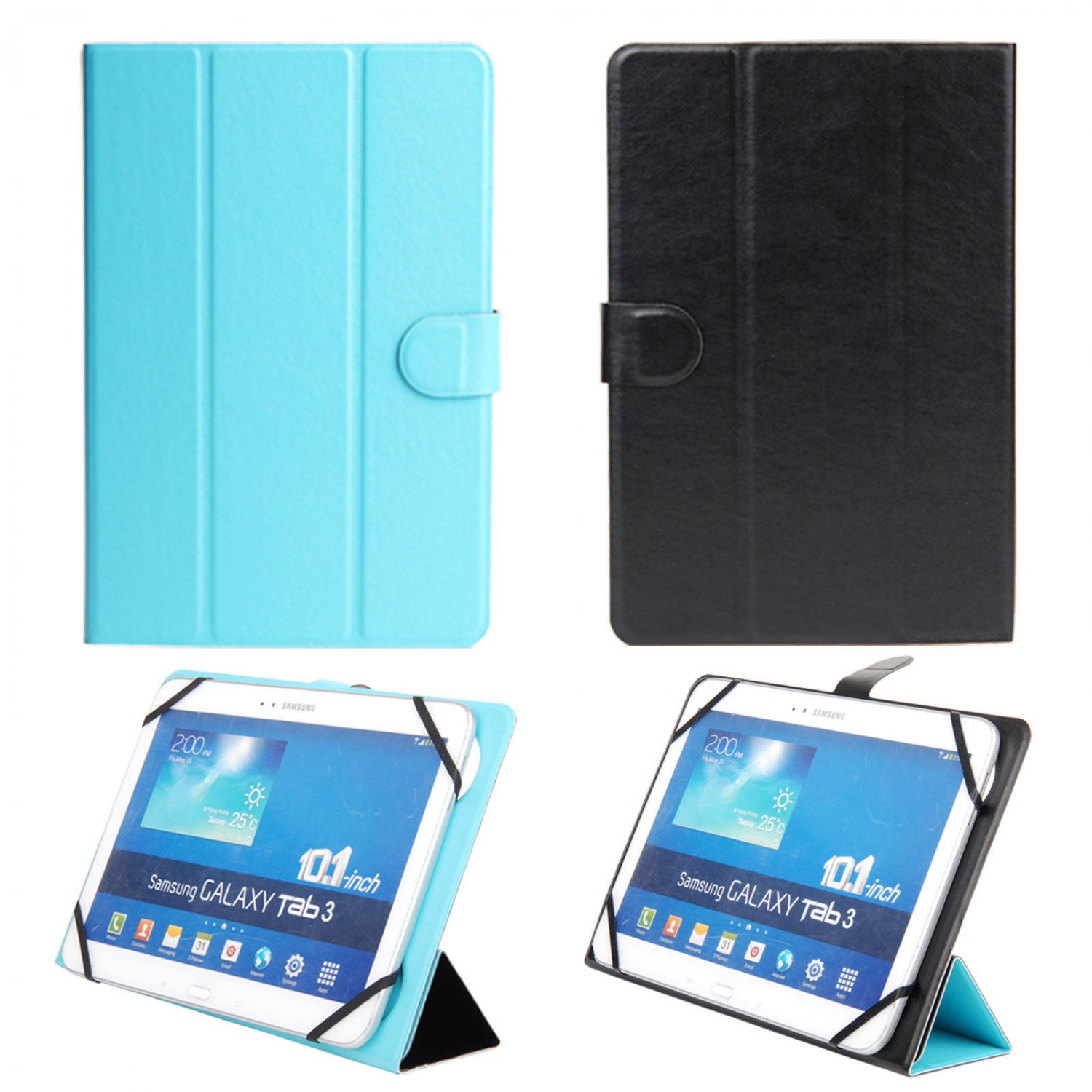 Folding Case Cover for 10.1 inch Sony Xperia Z2 Coby Kyros Dragon Touch R10 Tab