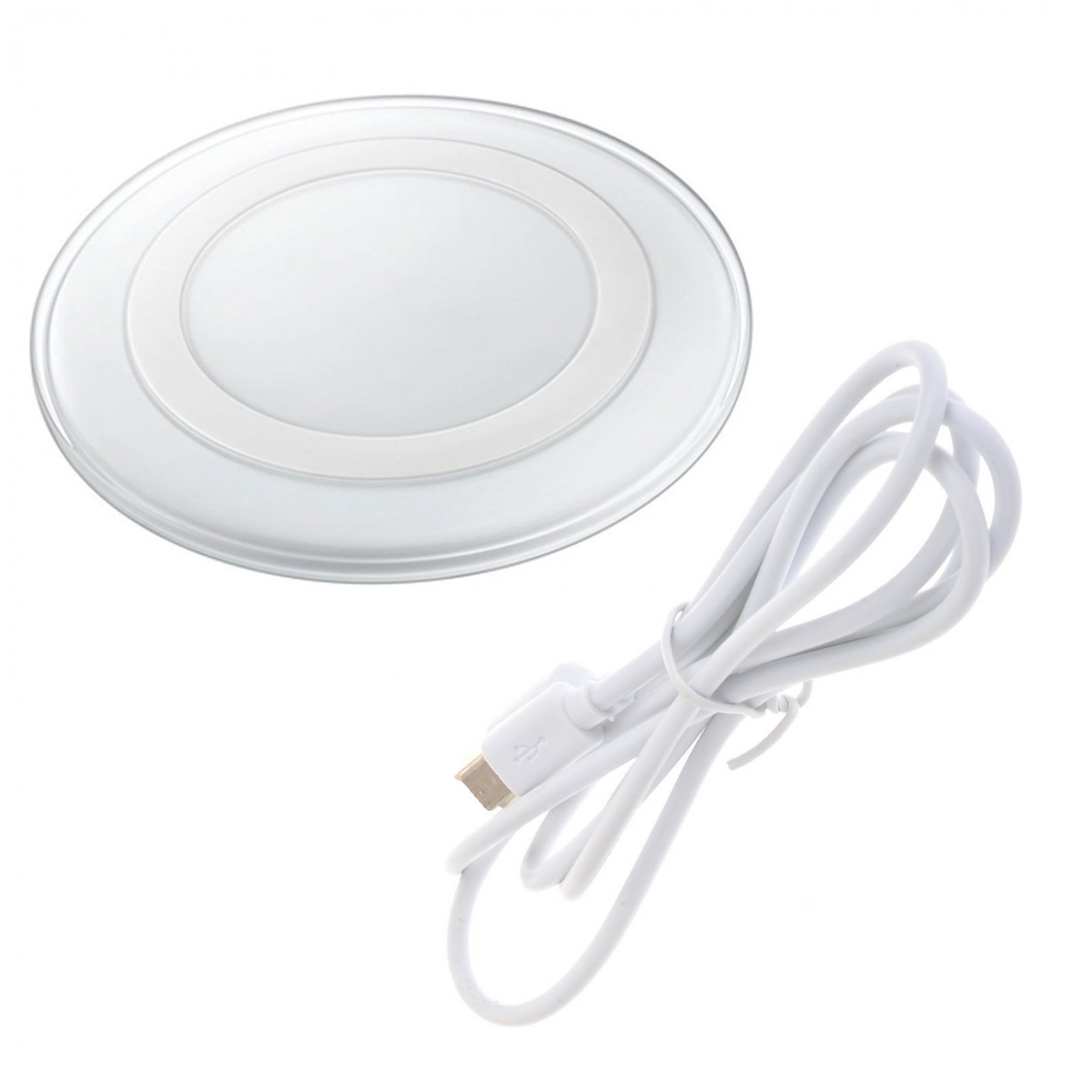 New White Wireless Charging Charger Charge Pad for Samsung Galaxy S6 Edge