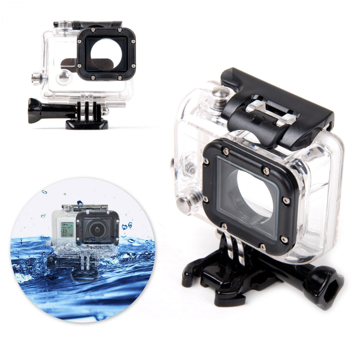 New Waterproof Transparent Diving Housing Case for Gopro Hero 3 3