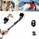 Extendable Handheld Monopod Bluetooth Remote Adapter for Gopro hero 4 3 iPhone