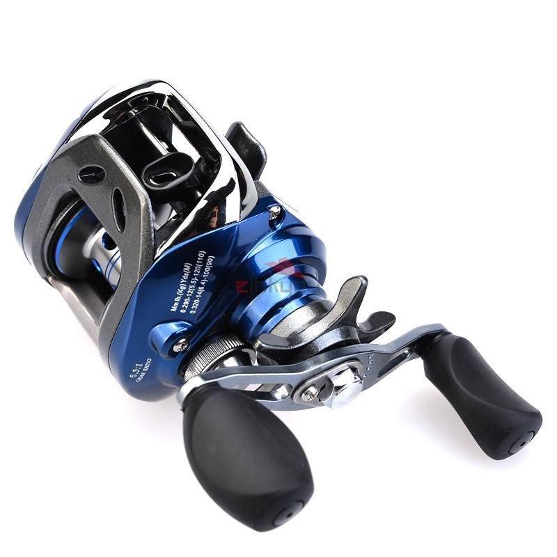 11BB 6.3:1 Gear Ratio Bait Casting Fishing Reel Right Hand Retrieve