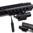 CREE Q5 300 Lumen LED Flashlight Red Laser Sight For pistol gun 20mm rail