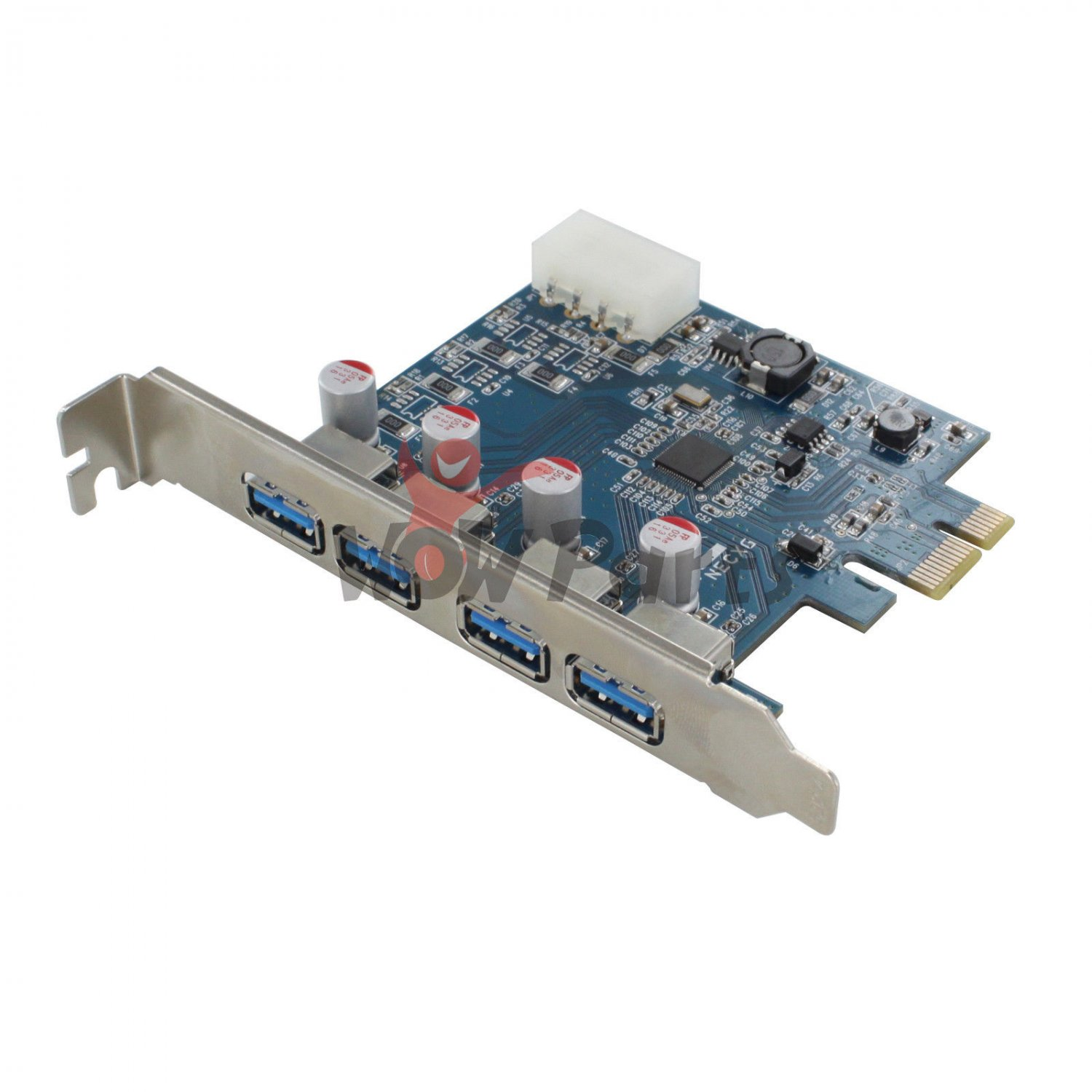 New 4 Port USB 3.0 PCI-E PCI Express Card Adapter 5Gbps for XP WIN7