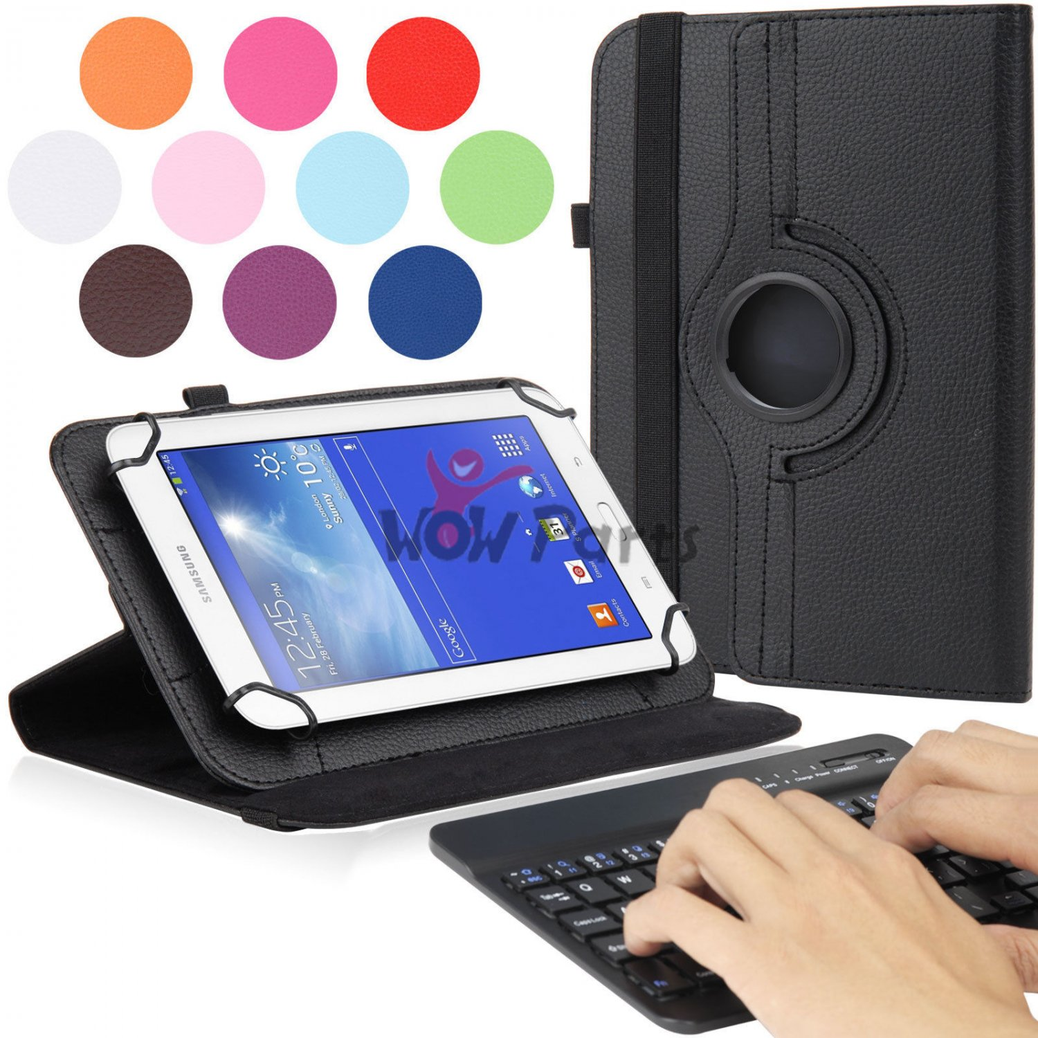 New Folio Stand Case Bluetooth Keyboard for Verizon