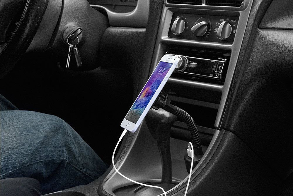 Arkon Lighter Socket Universal Magnetic Mount Holder for Galaxy Note 4 3 S6 S5