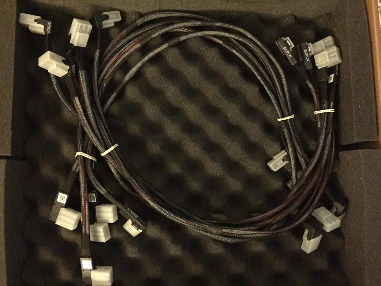 6gbps Sas Sata Raid Cables Dell Poweredge R710 3.5 Server P110m Perc H700 H200