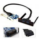 2 Port USB 3.0 PCI Express PCI-E Card Adapter 3.5 inch Front Panel Expansion Bay