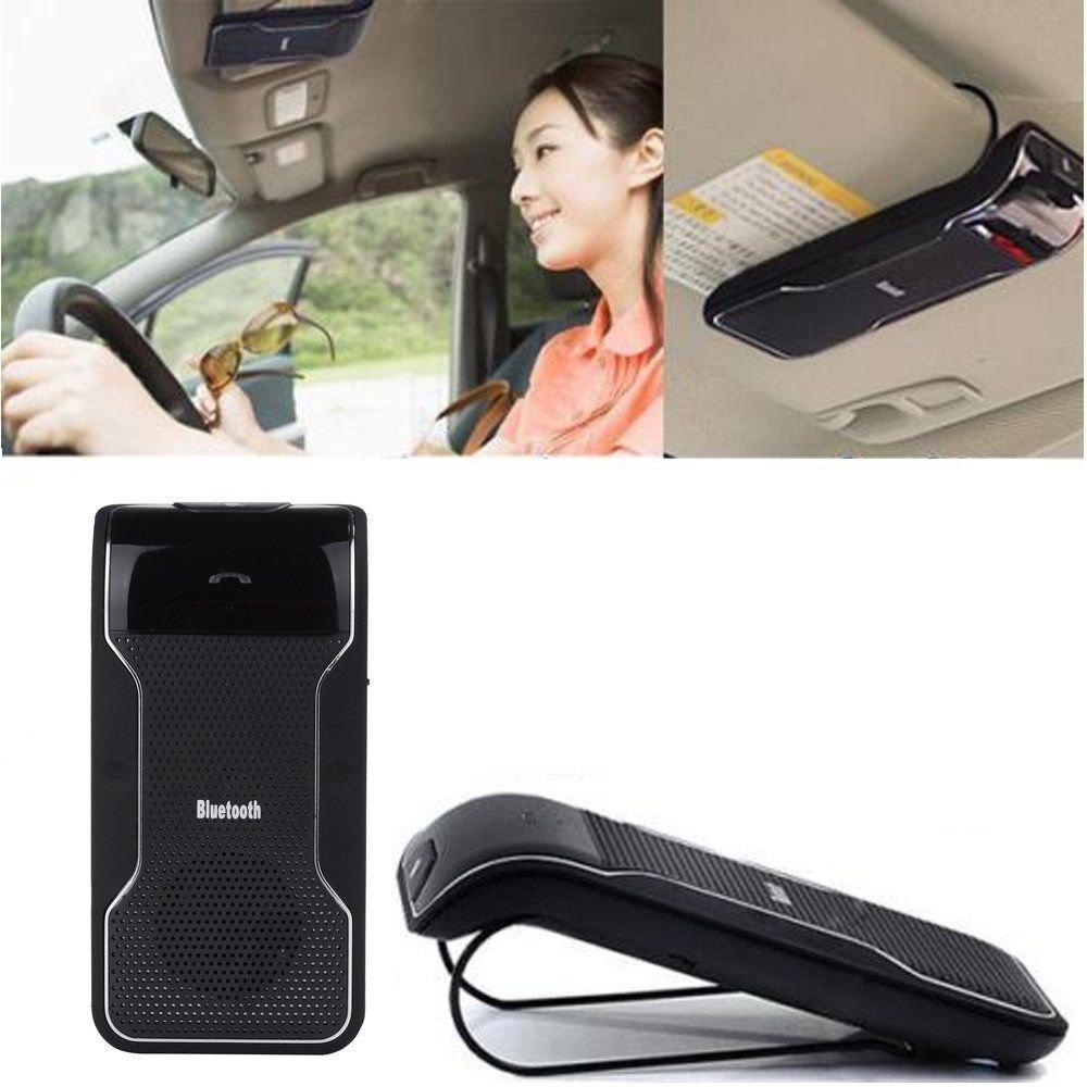 Multipoint Wireless Bluetooth Speakerphone Car Hands Free Kit Sun Visor Clip