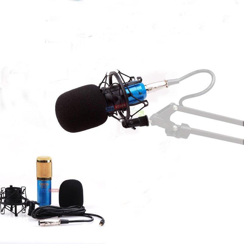 New Condenser Microphone Cardioid Studio Recording Shock Mount Blue