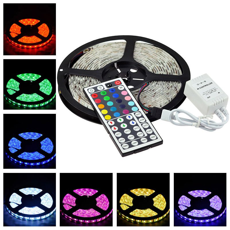 Waterproof 5M RGB 5050 SMD LED Strip Light 300LEDS,24Key IR remote controller