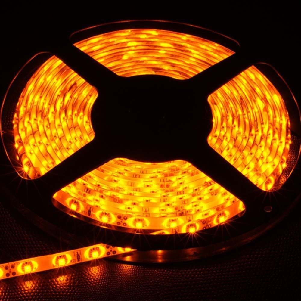 Yellow 5M Waterproof 5050SMD 300LED Strip Rope Lights