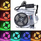 5M SMD RGB 5050 Waterproof Strip light 300 LED and 44 Key IR Remote,12V 5A power
