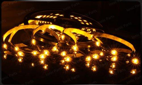 Amber 5m 3528 5050 SMD LED 150 LEDS Waterproof Flexible Light Strip Roll12V