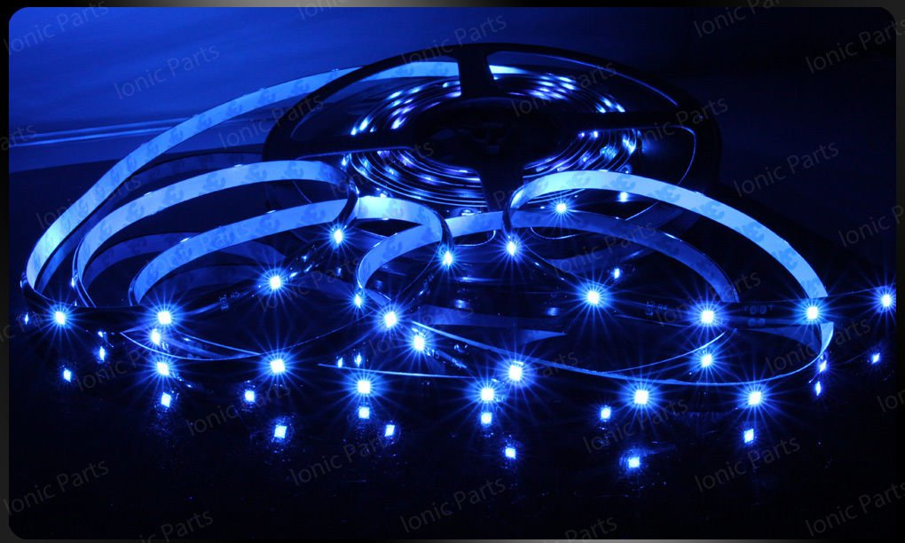 Blue 5m 3528 5050 SMD LED 150 LEDS Waterproof Flexible Light Strip Roll12V