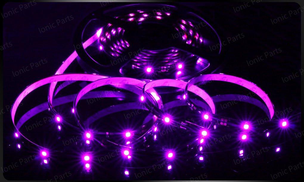 Pink 5m 3528 5050 SMD LED 150 LEDS Waterproof Flexible Light Strip Roll12V
