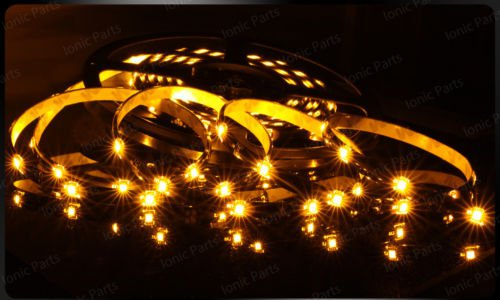 Amber 5m 3528 5050 SMD LED 300 LEDS Waterproof Flexible Light Strip Roll12V