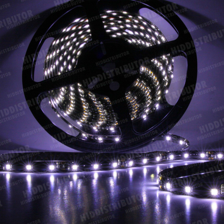 Cool White 5m 16ft Roll 3528 SMD LED 300 LEDs Flexible Waterproof Light Strip12V