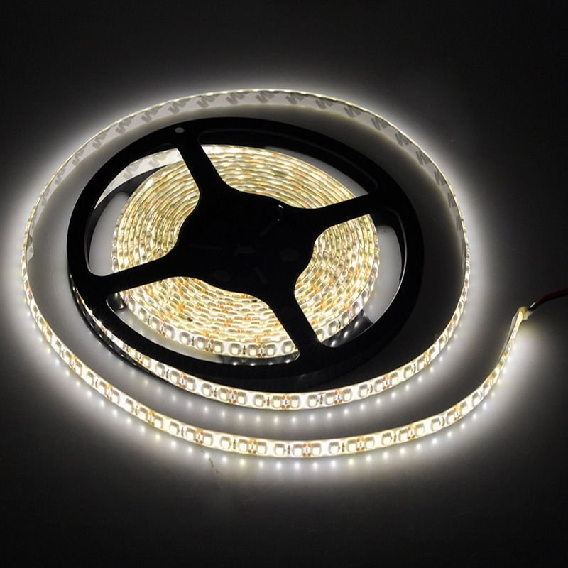 3528 5m 16.4ft Warm White 600 LED SMD Flexible Strip Light DC 12V