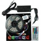 5M SMD RGB 5050 Waterproof Strip light 300 LED 44 Key IR Remote 12V 6A power