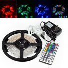 3528 5M RGB 300 LED SMD Flexible Light Strip 44Key IR and 12V 2A Power Supply