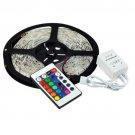 5M Waterproof 12V RGB 300LEDS SMD 3528 5050 LED Strip Light Lamp,24 44 IR Remote