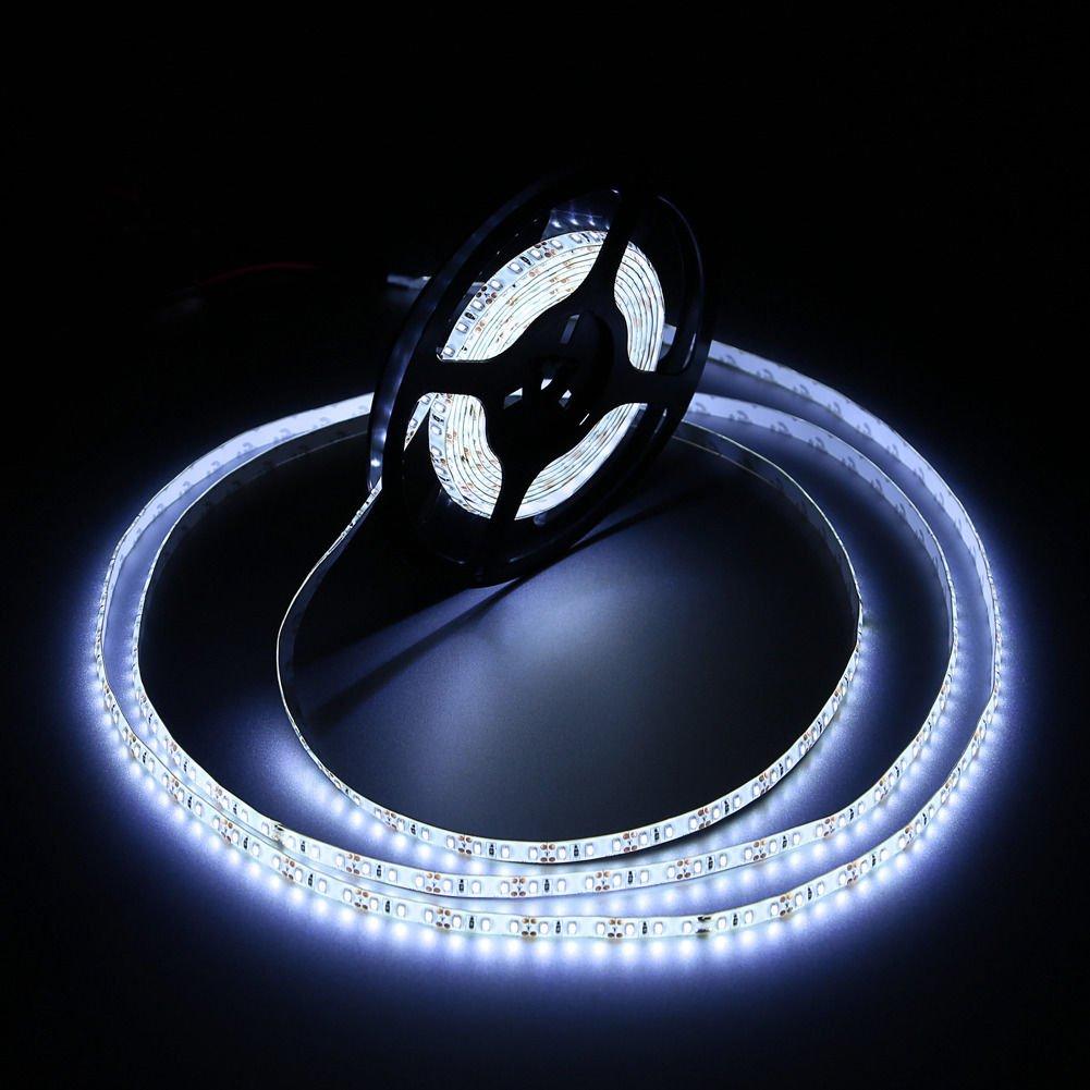 Cool White 5M Waterproof 3014 SMD 600LED Light Strip Power Supply 12V 60W