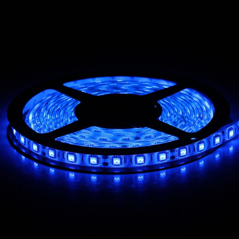 Blue 5M 12V IP65 Waterproof 150 LED StripLight 5050 SMD String Ribbon TapeRoll