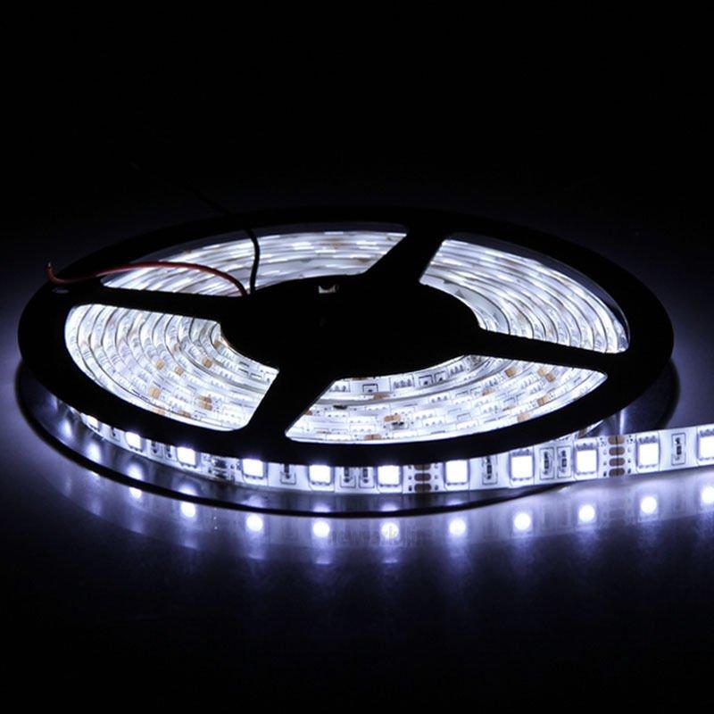 White 5M 12V IP65 Waterproof 300 LED Strip Light 5050 SMD StringRibbon TapeRoll