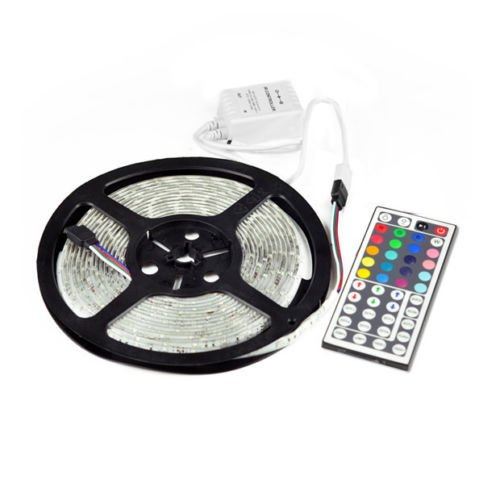 New 5050 12v 5m Waterproof RGB 300 LEDS Smd LED Strip Light Lamp 44 Key