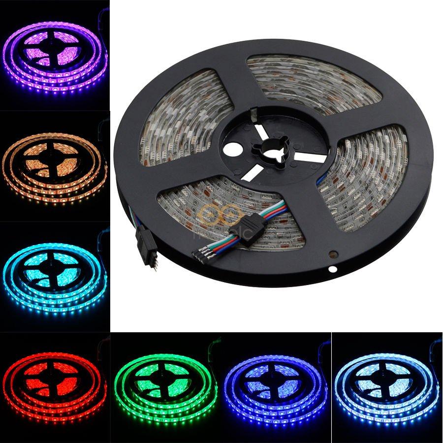 5M SMD 5050 RGB LED Strip Waterproof 300 LEDs Light Flexible 60-M IP65 12V