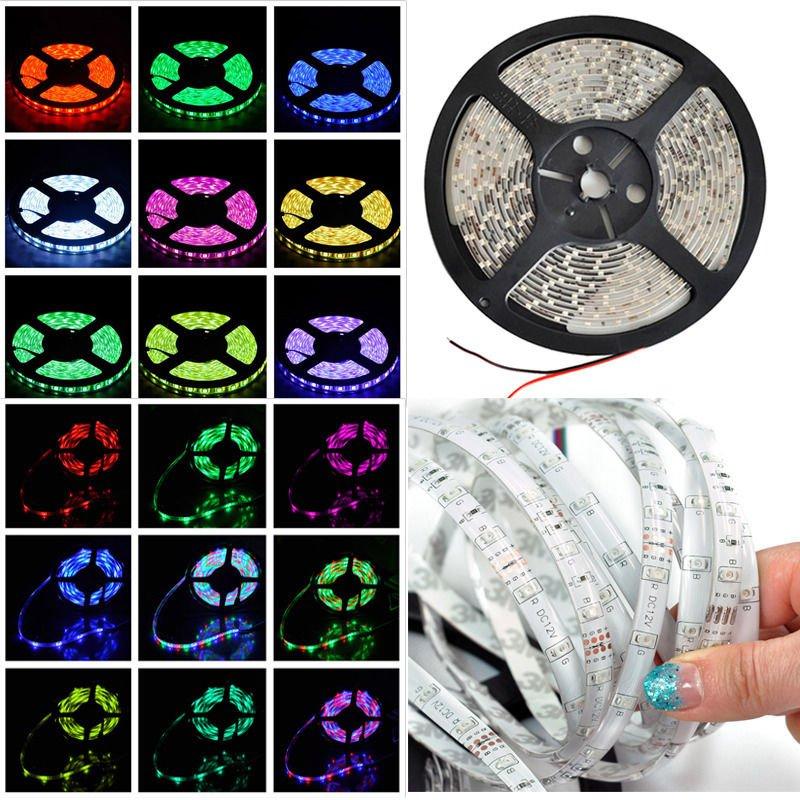 12V 5M IP65 Waterproof 300 LED Strip Light 3528 SMD String Ribbon Tape Roll