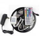 BZONE 5M 3528 RGB 300 LED Light Strip NON-Waterproof 44 key Remote 12V Power