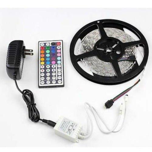 Waterproof RGB 5M 3528 LED Strip Light 300leds 12V Power Supply 44key Remote