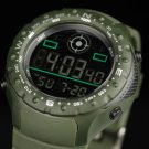 New Infantry Mens Quartz Digtial Wrist Watch Sport Army Green Rubber-Silicone