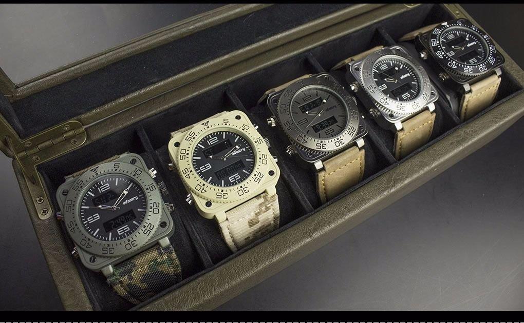 New Luxury Military Army Quartz Mens Sport Wrist Watch Glow in Dark Leather