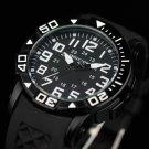 Infantry Mens Army Sport Quartz Fashion Wrist Watch Black Rubber Russian Stylish