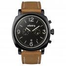 Black Case Infantry Luxury Military Sport Mens Quartz Leather Wrist Watch WR30m