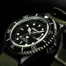 Infantry Mens Fashion Sport Lume Dial Quartz Wrist Watch Army Green Nylonstrap