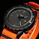 Infantry Stylish Mens Sport Quartz Date Wrist Watch Orange Band Rotatable Bezel