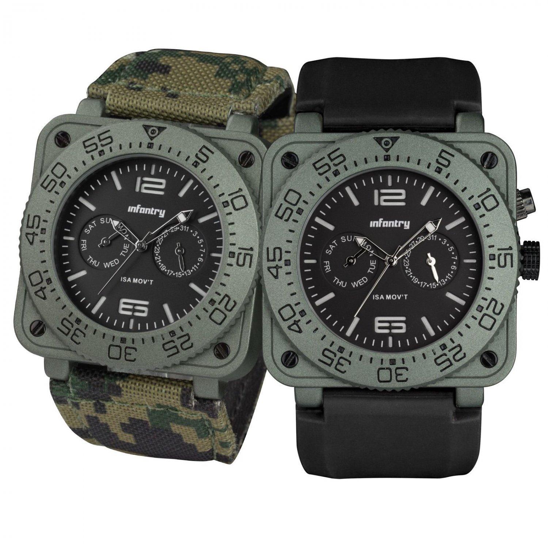 Infantry Cops Luxury Quartz Glow in Dark Mens Wrist Watch Set Flagship Series