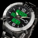 Infantry Military Sport Mens Chrono Digital LCD Dial Quartz Wrist Watch Light