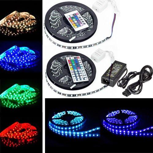 5050 300 LED RGB SMD Waterproof PCB BLACK LED Light Strip