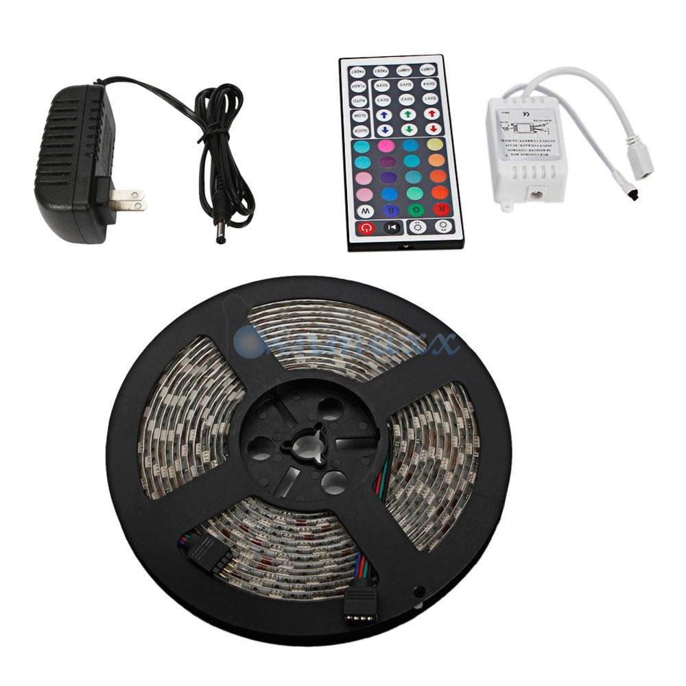 New 5M 12V Waterproof 300 LED RGB Strip Light 3528 SMD String Ribbon Tape Roll